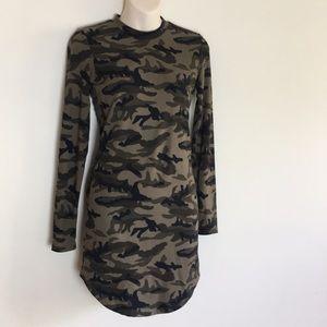 💖ReVamped camo print tunic long sleeve dress